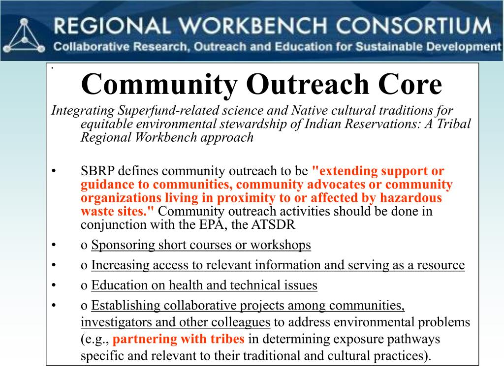 Community Outreach Core
