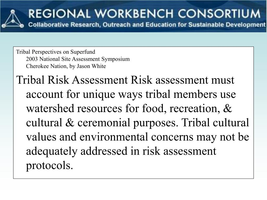 Tribal Perspectives on Superfund