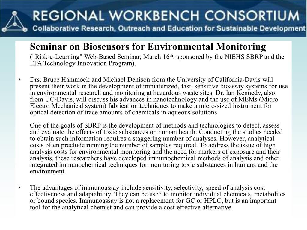 Seminar on Biosensors for Environmental Monitoring