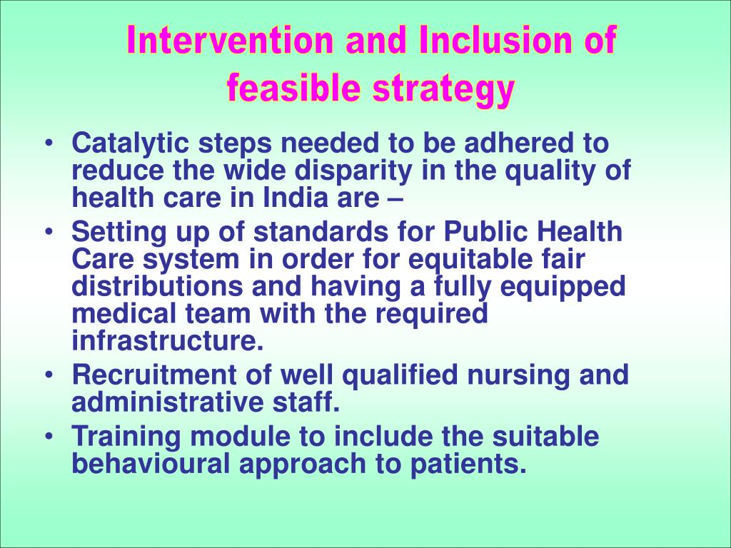 Intervention and Inclusion of