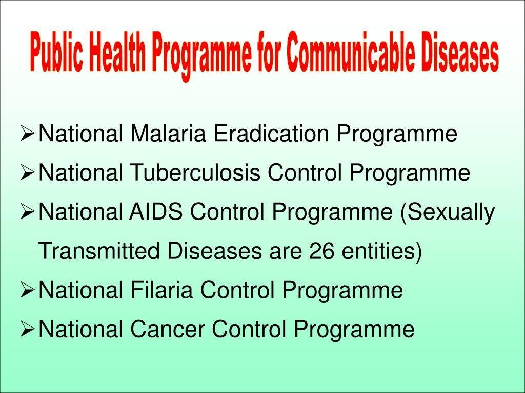 Public Health Programme for Communicable Diseases