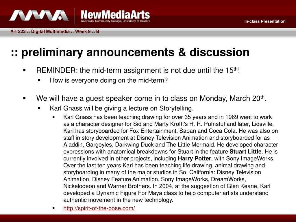 :: preliminary announcements & discussion
