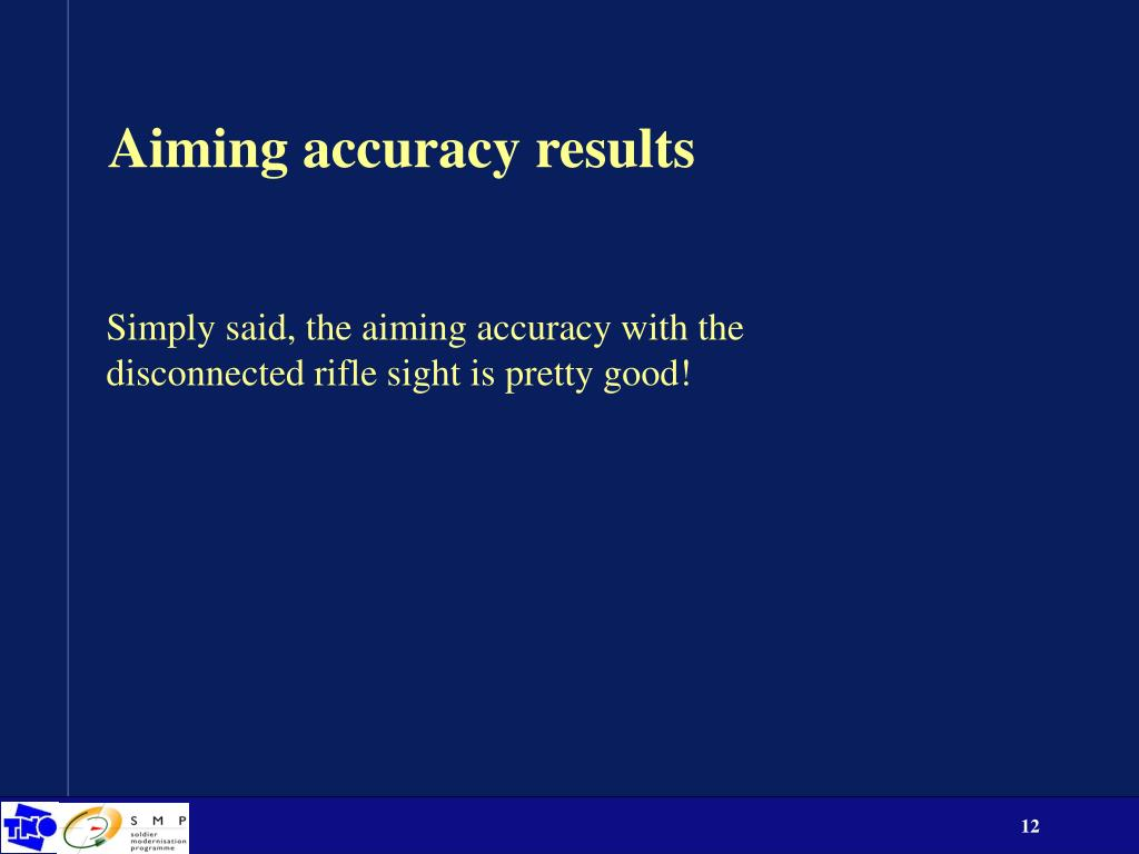 Aiming accuracy results