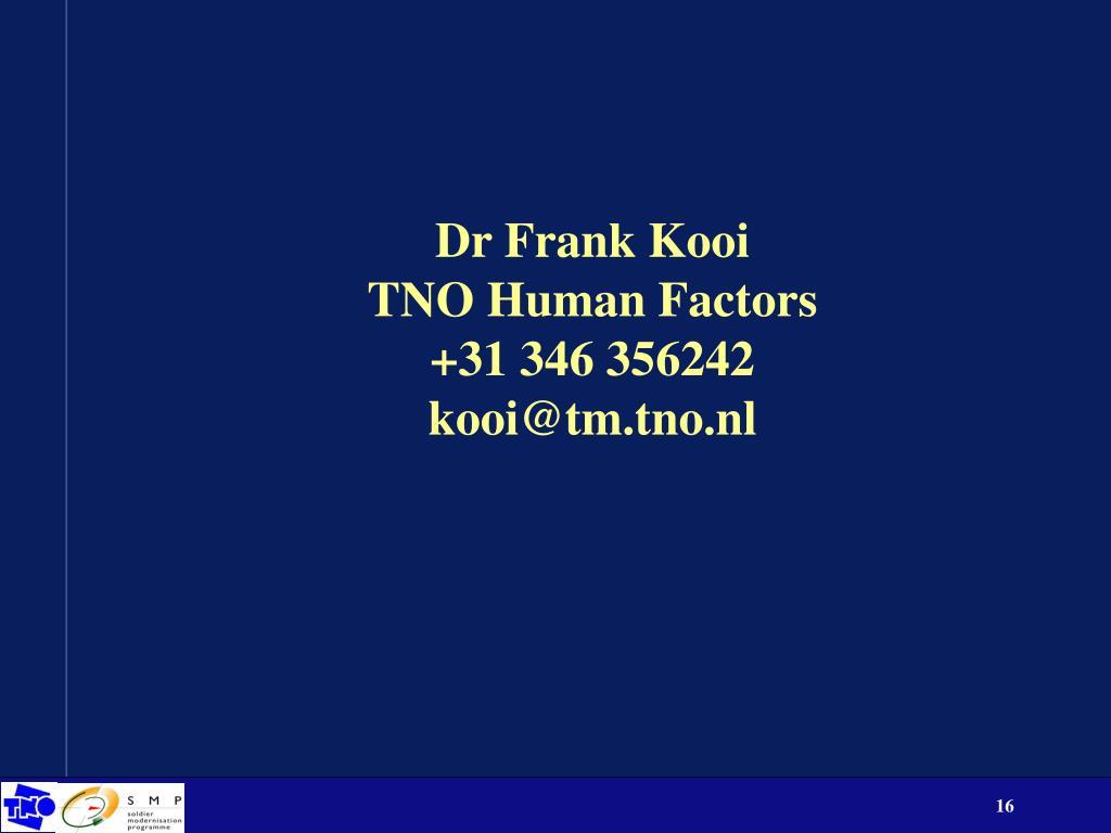 Dr Frank Kooi