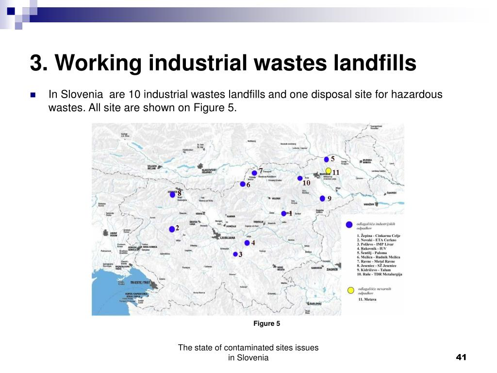 3. Working industrial wastes landfills