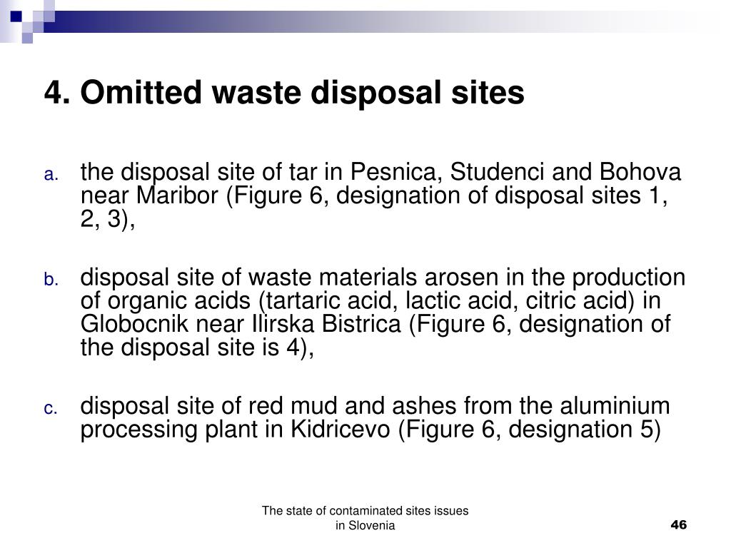 4. Omitted waste disposal sites