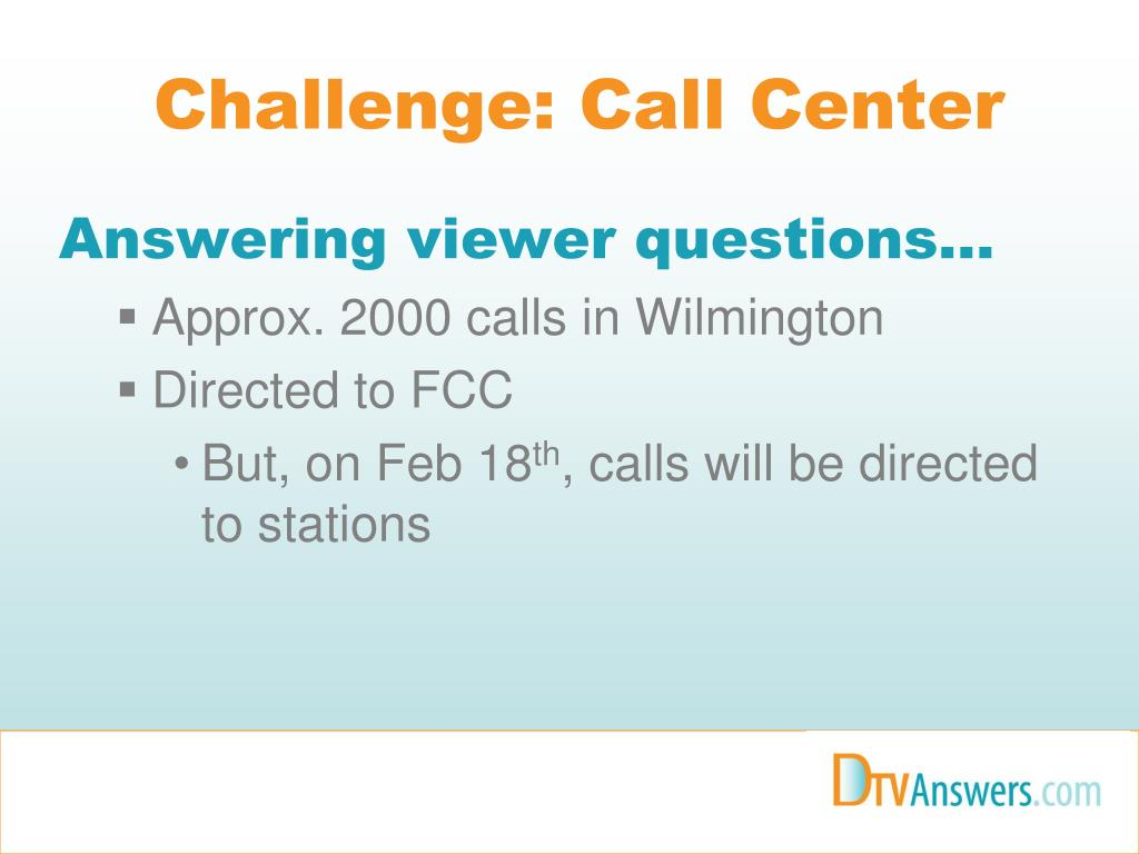 Challenge: Call Center