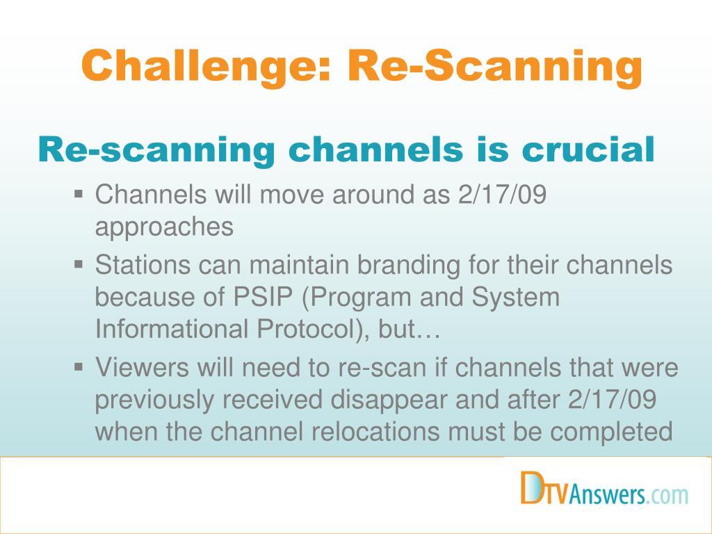 Challenge: Re-Scanning