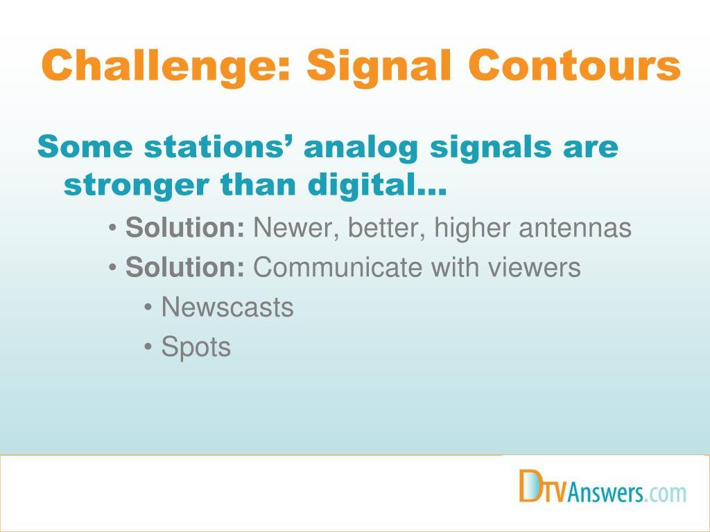 Challenge: Signal Contours