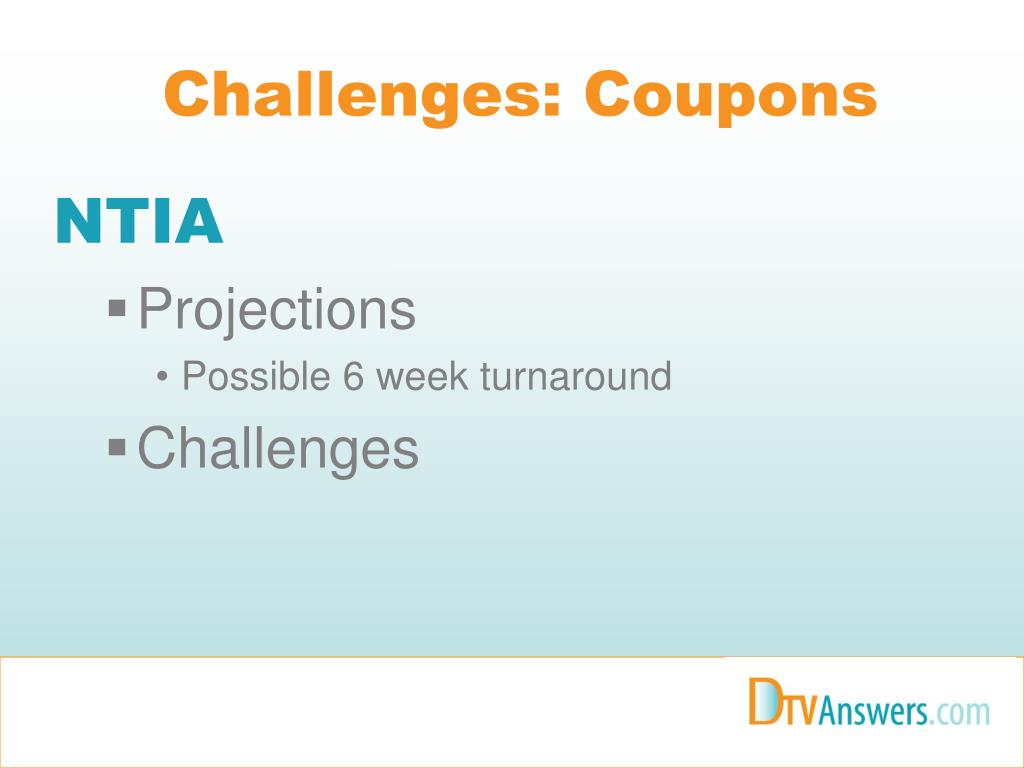 Challenges: Coupons