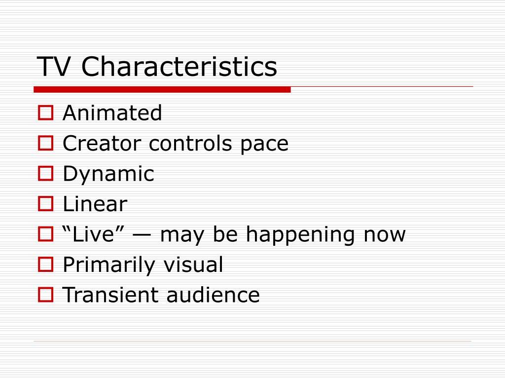 TV Characteristics