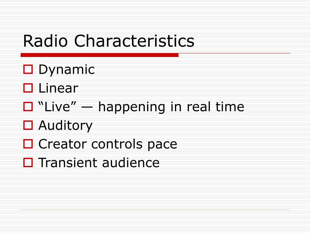 Radio Characteristics
