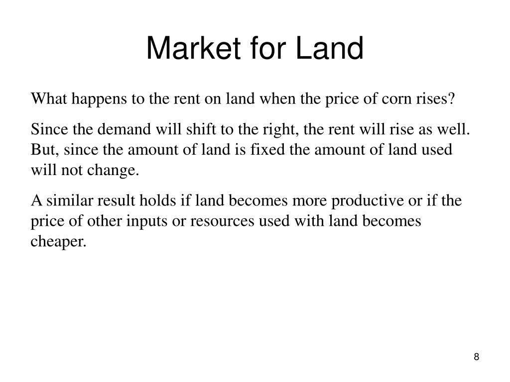 Market for Land
