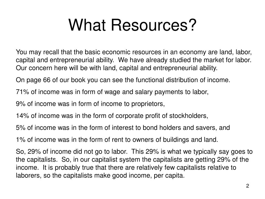 What Resources?