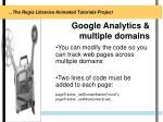 google analytics multiple domains