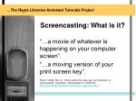 screencasting what is it