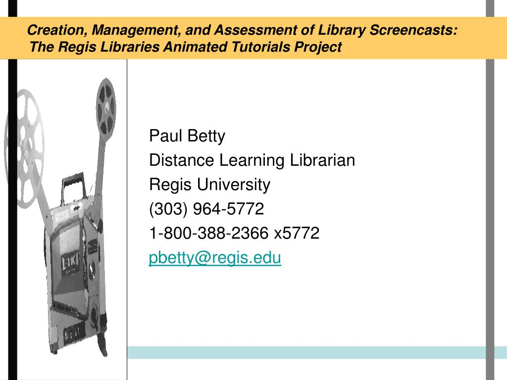 Creation, Management, and Assessment of Library Screencasts: