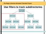 use filters to track subdirectories