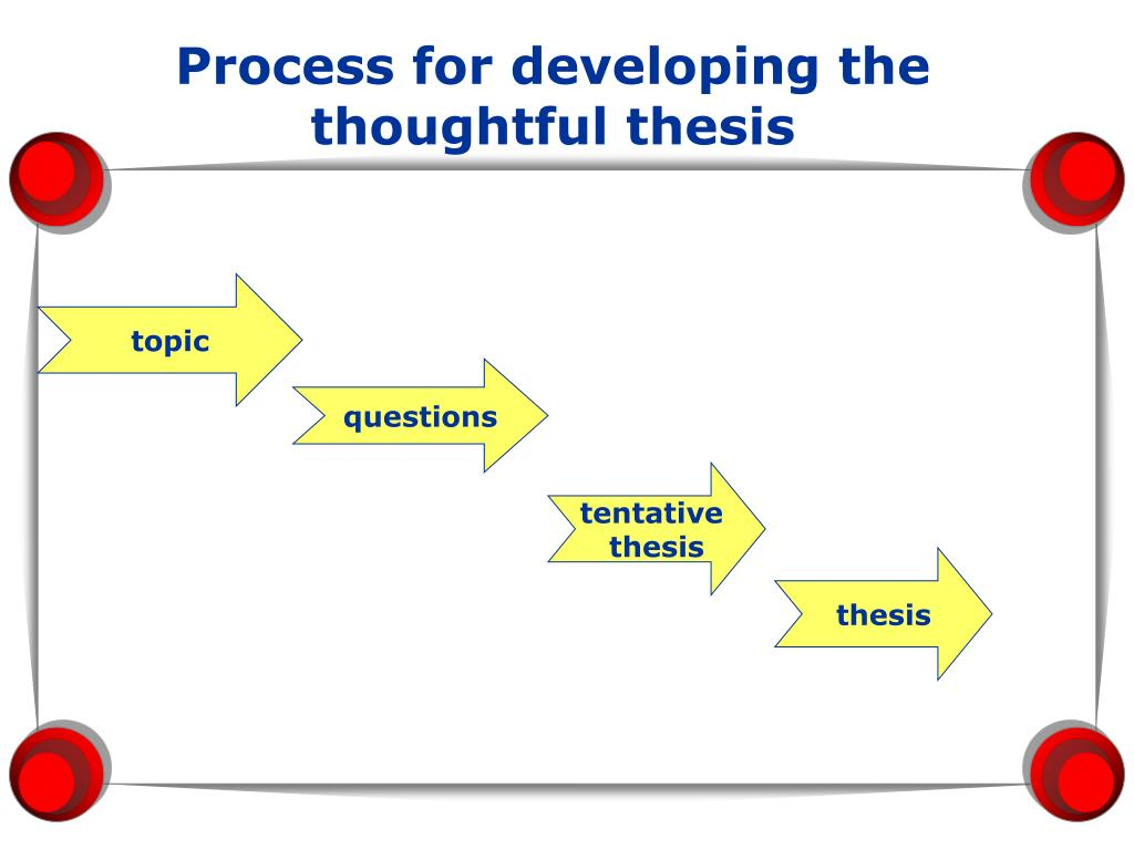 Process for developing the thoughtful thesis