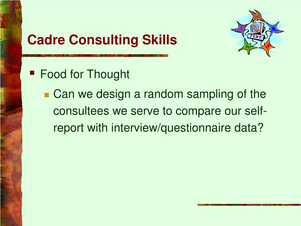 Cadre Consulting Skills