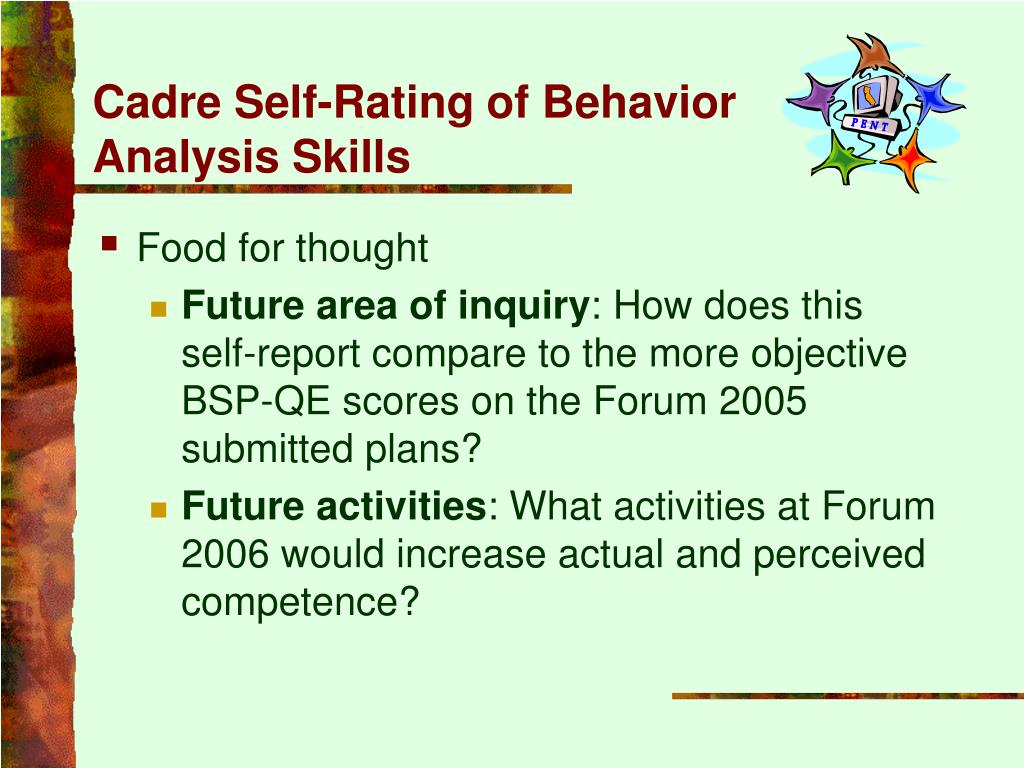 Cadre Self-Rating of Behavior