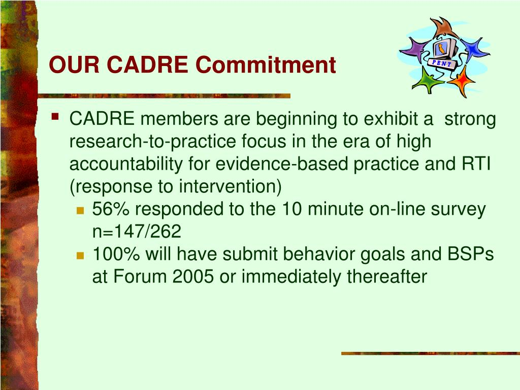 OUR CADRE Commitment