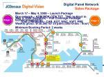 digital panel network sales package