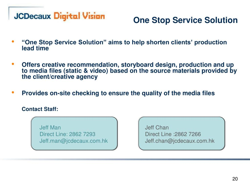 One Stop Service Solution