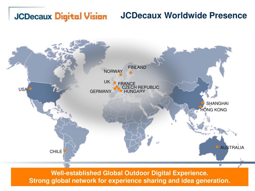 JCDecaux Worldwide Presence