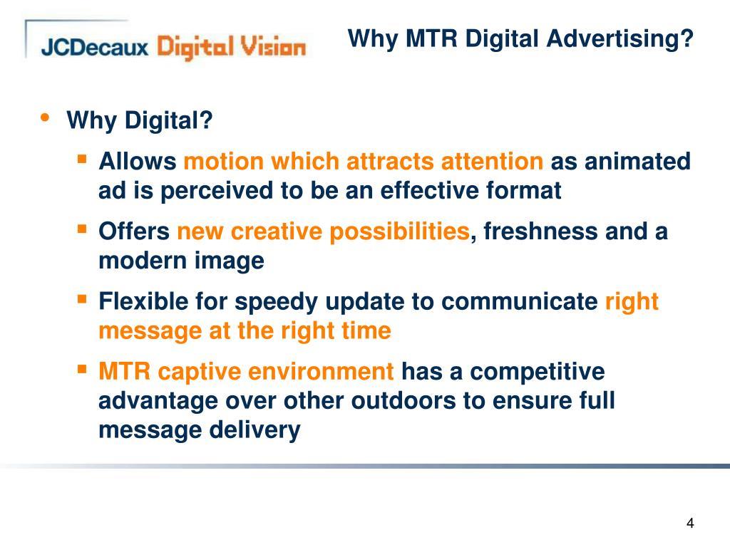 Why MTR Digital Advertising?