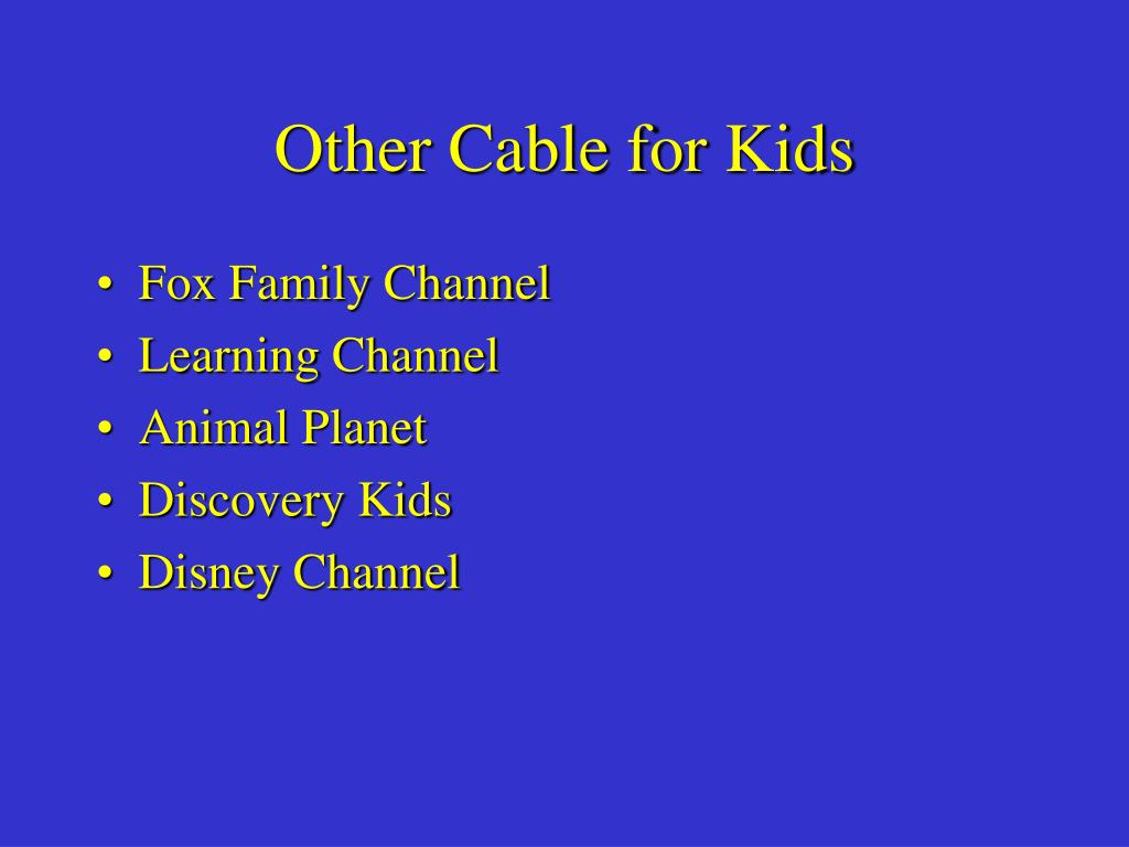 Other Cable for Kids