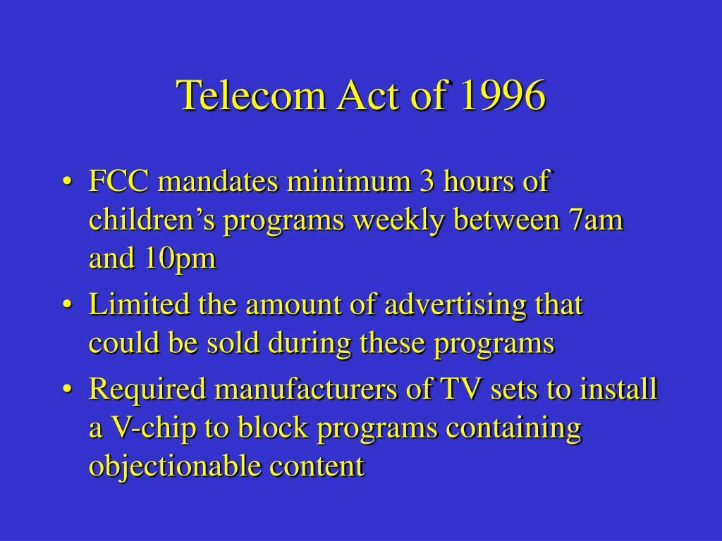 Telecom Act of 1996