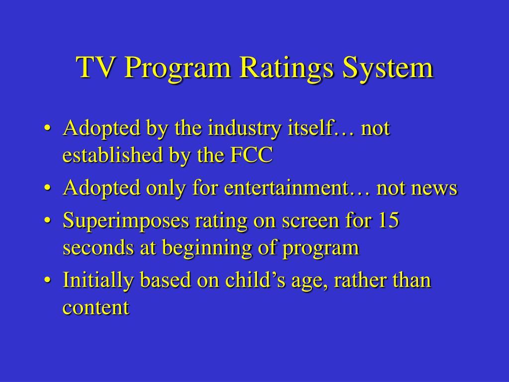 TV Program Ratings System