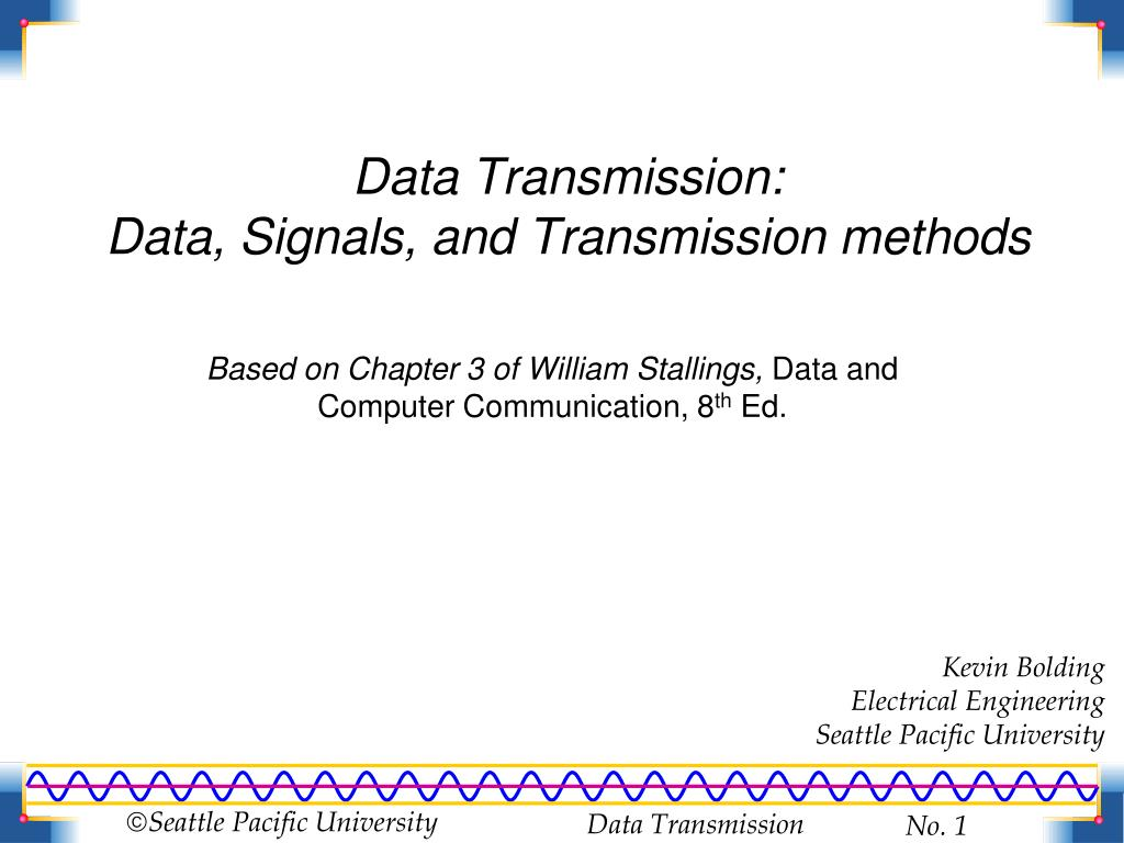 data transmission methods Serial and parallel data transmission  data transmission can occur in two modes (methods), either serial or parallel serial data transmission in serial data transmission, bits are sent sequentially (one after the.
