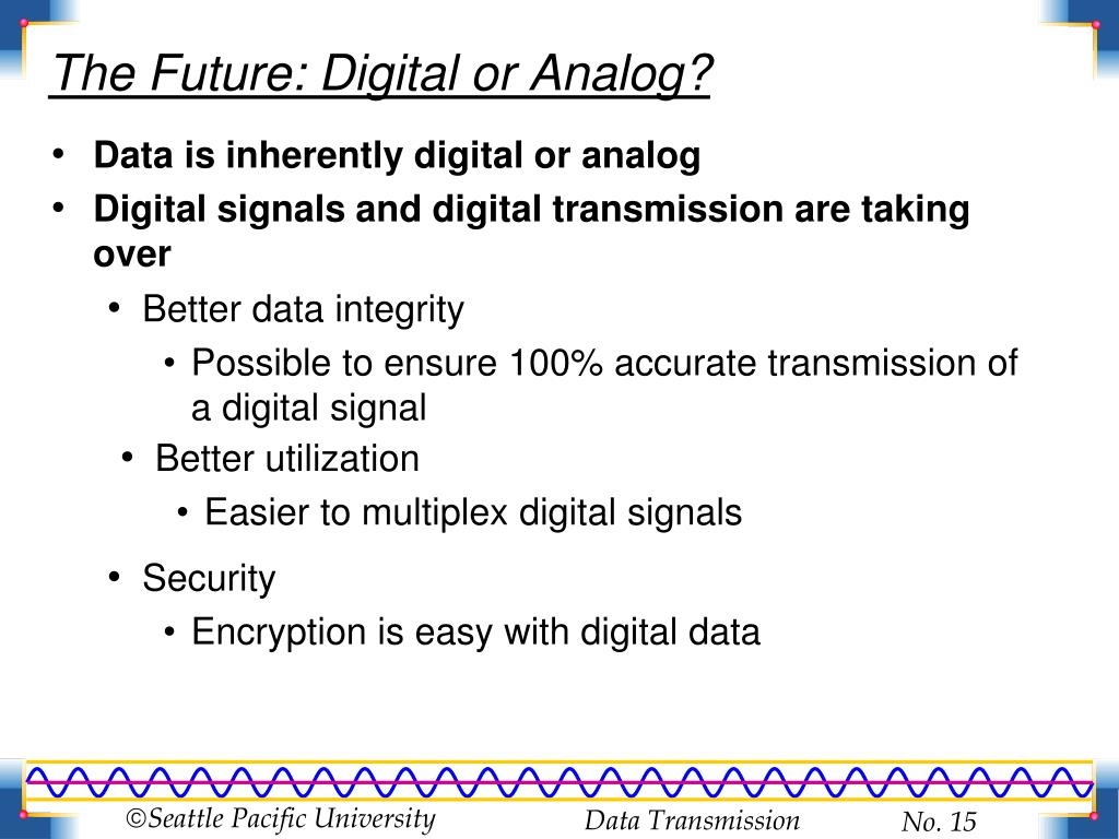 The Future: Digital or Analog?