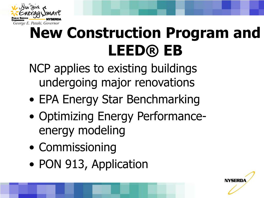NCP applies to existing buildings undergoing major renovations
