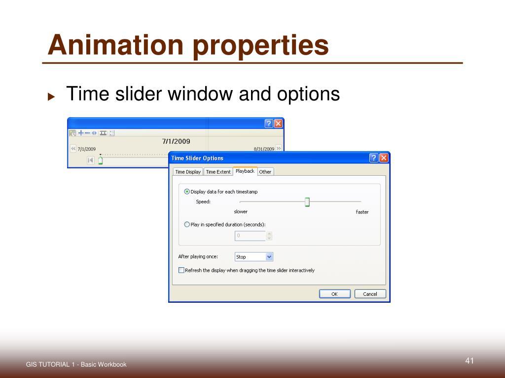 Animation properties