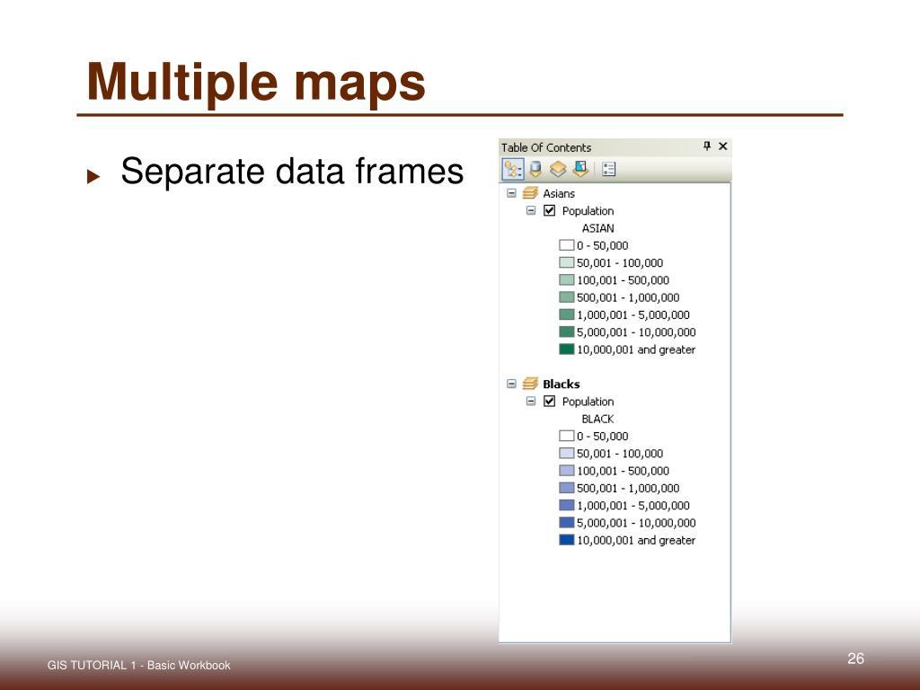 Multiple maps