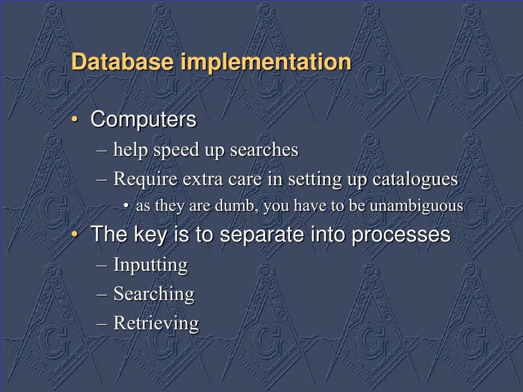 Database implementation