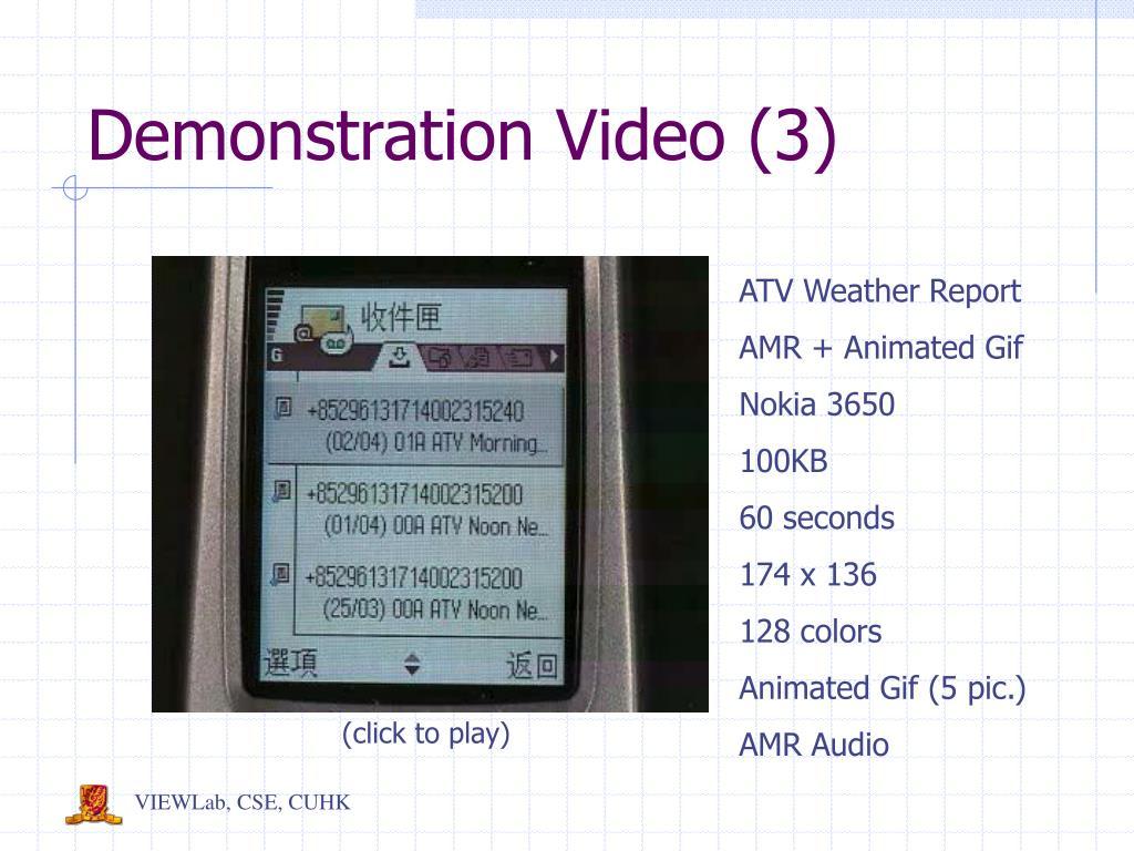 Demonstration Video (3)