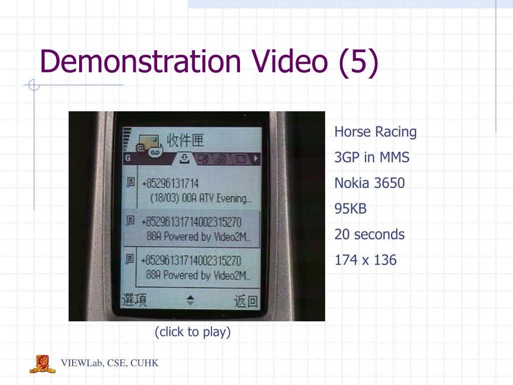 Demonstration Video (5)