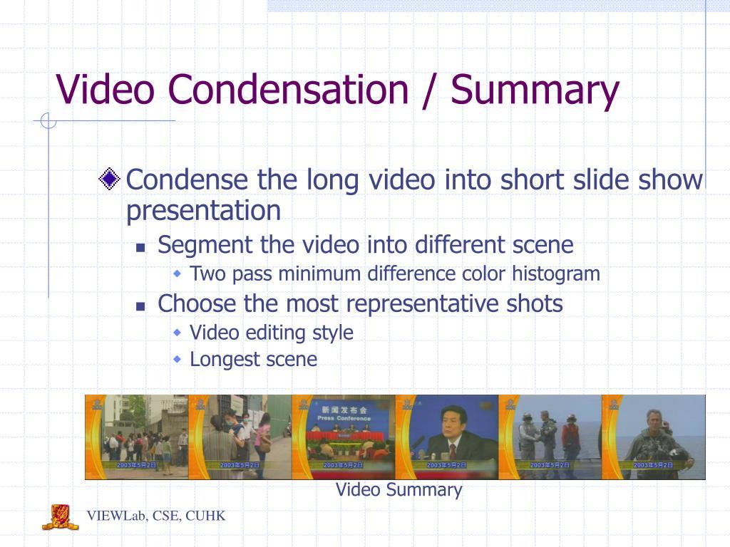 Video Summary