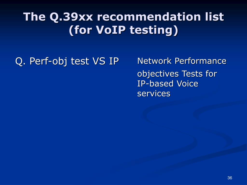 Q. Perf-obj test VS IP
