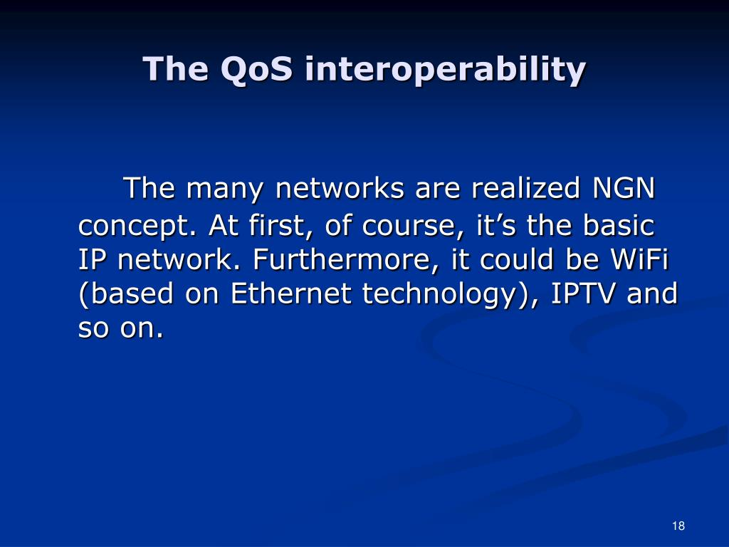 The QoS interoperability