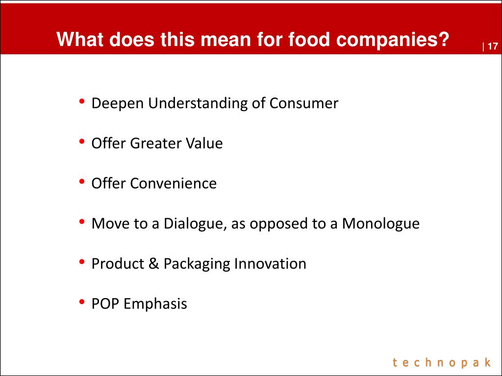What does this mean for food companies?