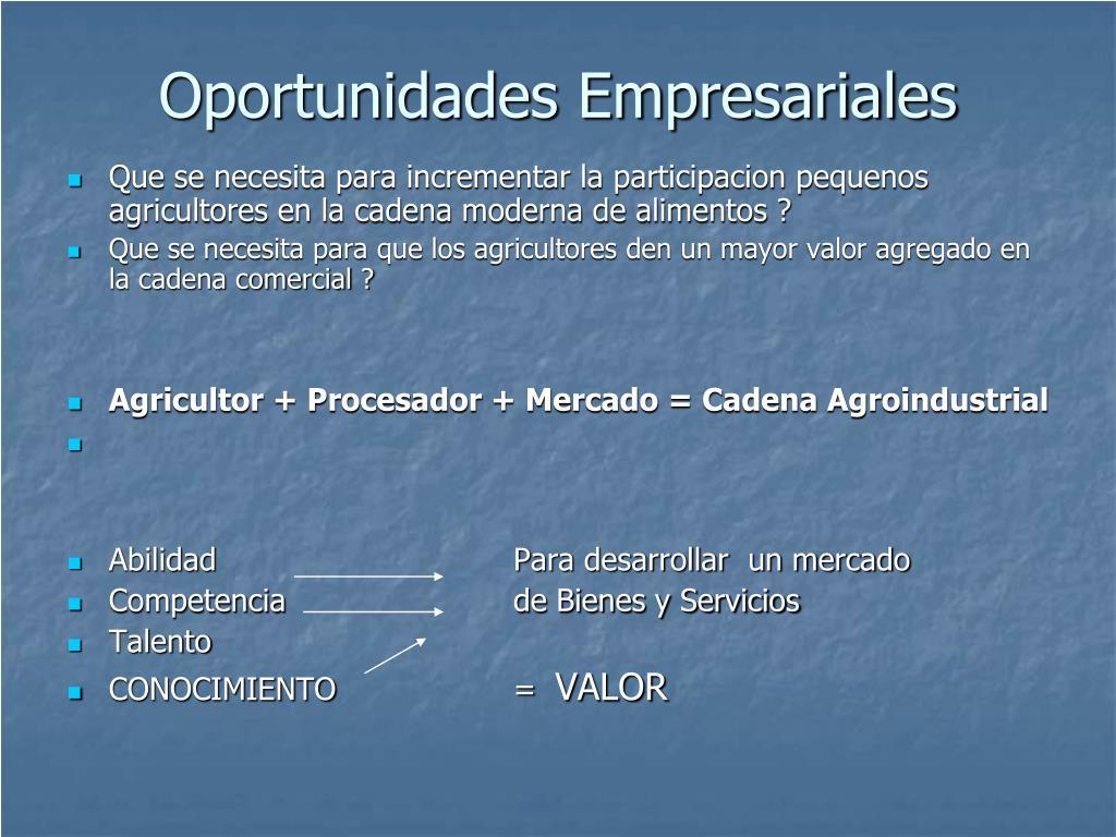 Oportunidades Empresariales