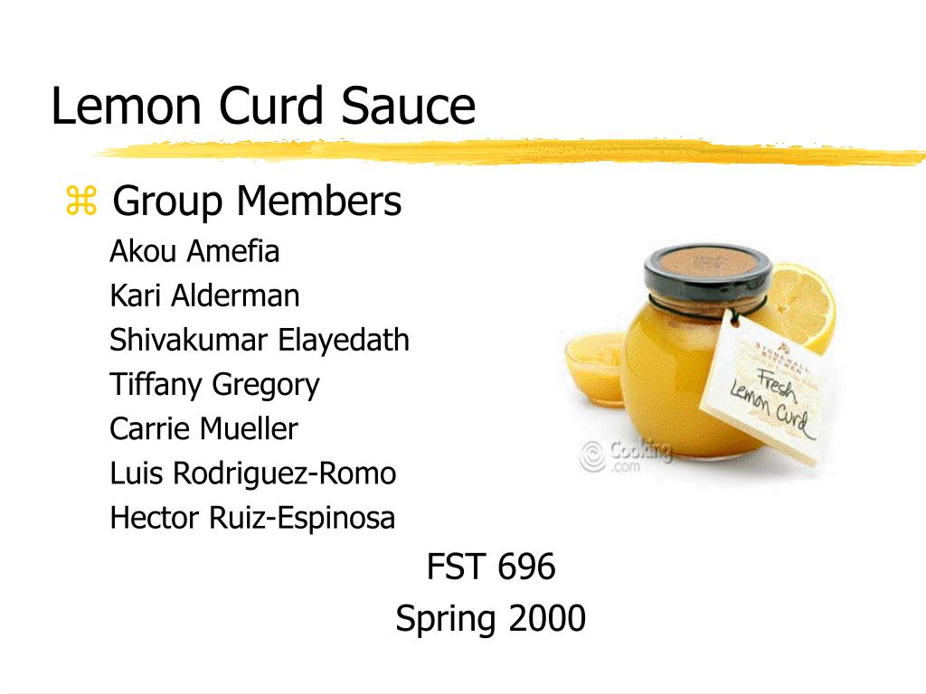 lemon curd sauce