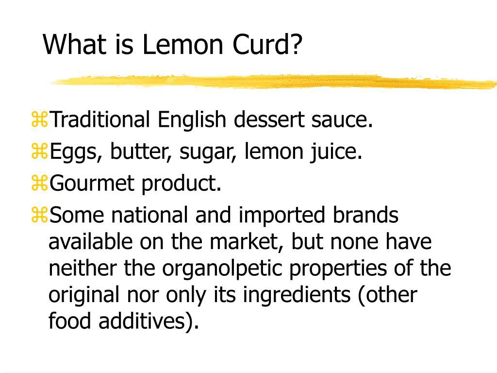 What is Lemon Curd?