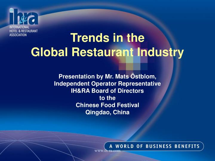 Trends in the global restaurant industry