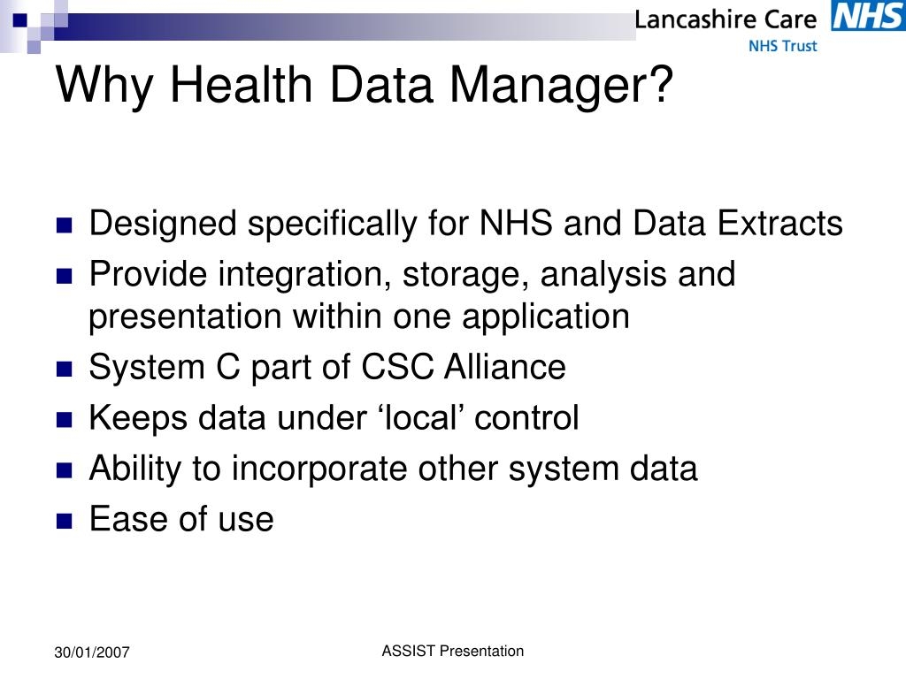 Why Health Data Manager?